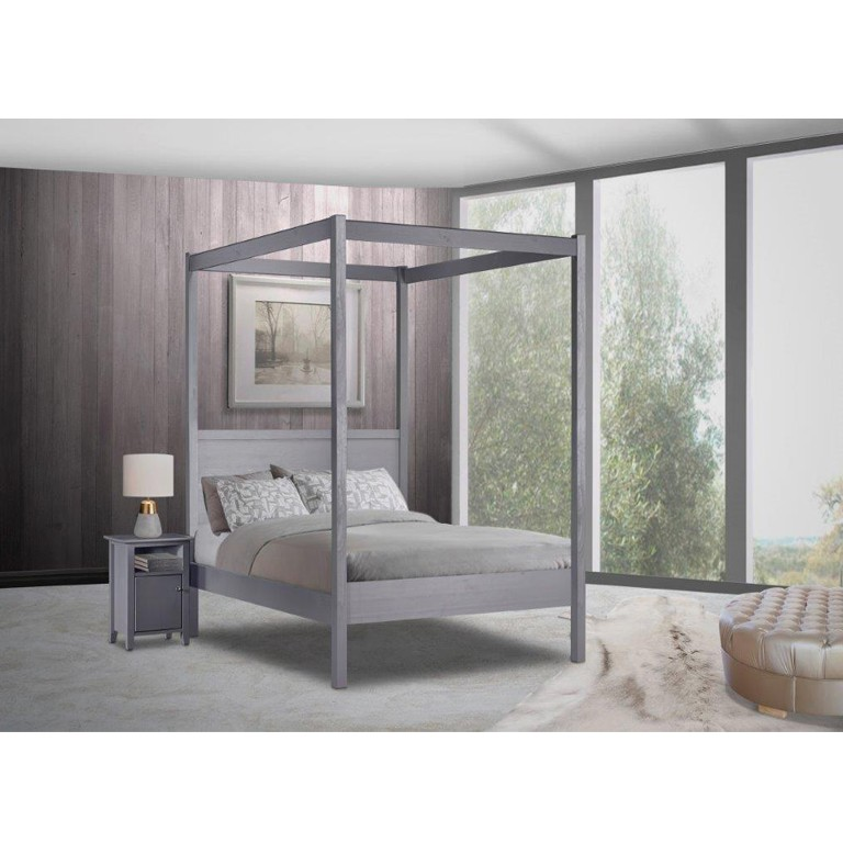 Janine 4 Poster Bed (Graphite)